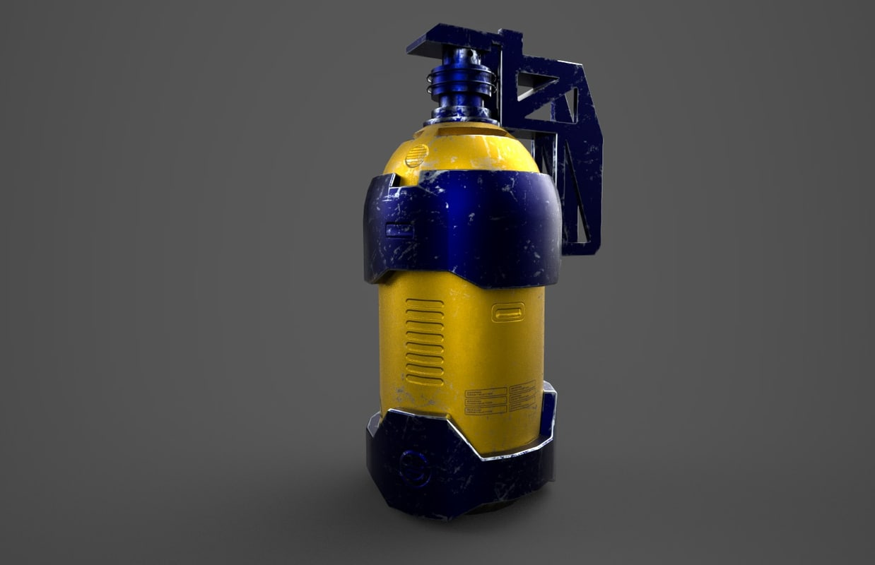 free obj mode sci-fi extinguisher