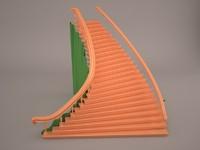 3d perron stair marble model