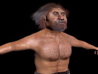 3d neanderthal man model