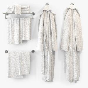 bath bathrobe bat 3d max