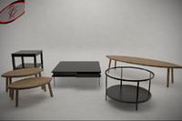 3d coffee tables games ready model