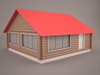 cottage logcabin cabin log 3d 3ds