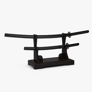 double sword stand samurai 3d 3ds
