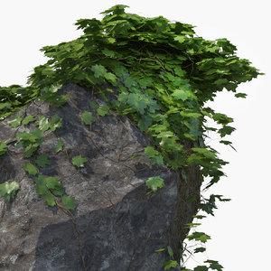 realistic ivy rock 3d x