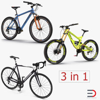 3d modern bikes model