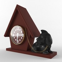 clock with dog