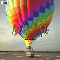 hot air balloon c4d