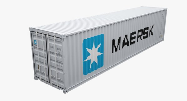 maersk shipping container 3d max