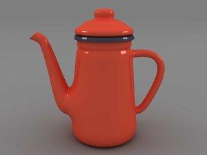 coffee pot 3d 3ds