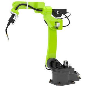 3d model industrial robot 2