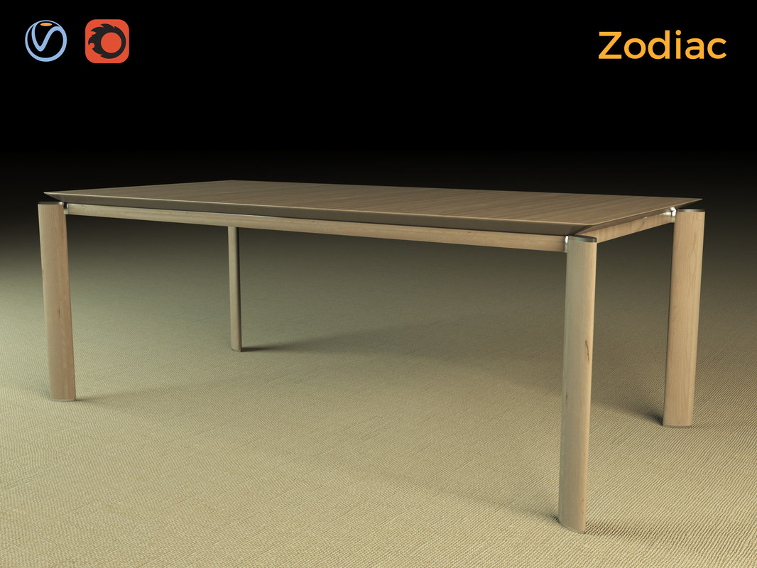 zodiac table wood 3d max