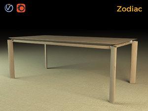 zodiac table wood 3d max