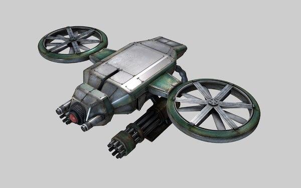 drone futuristic 3d model