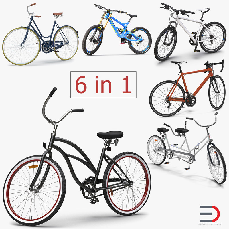 3d model bikes 3 rigged bicycle