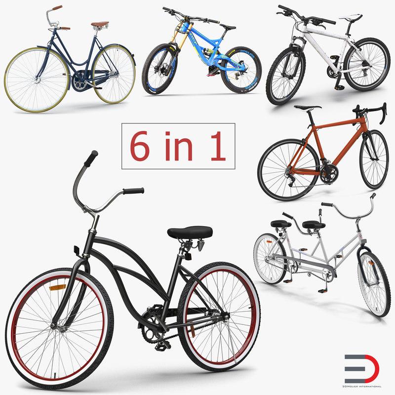 bikes 3 rigged 3d model