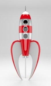 rocket toy 2 3d model