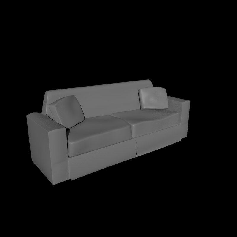 3d model basic couch