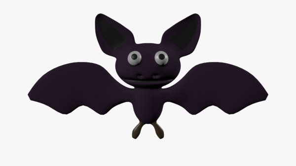 3d cartoon bat