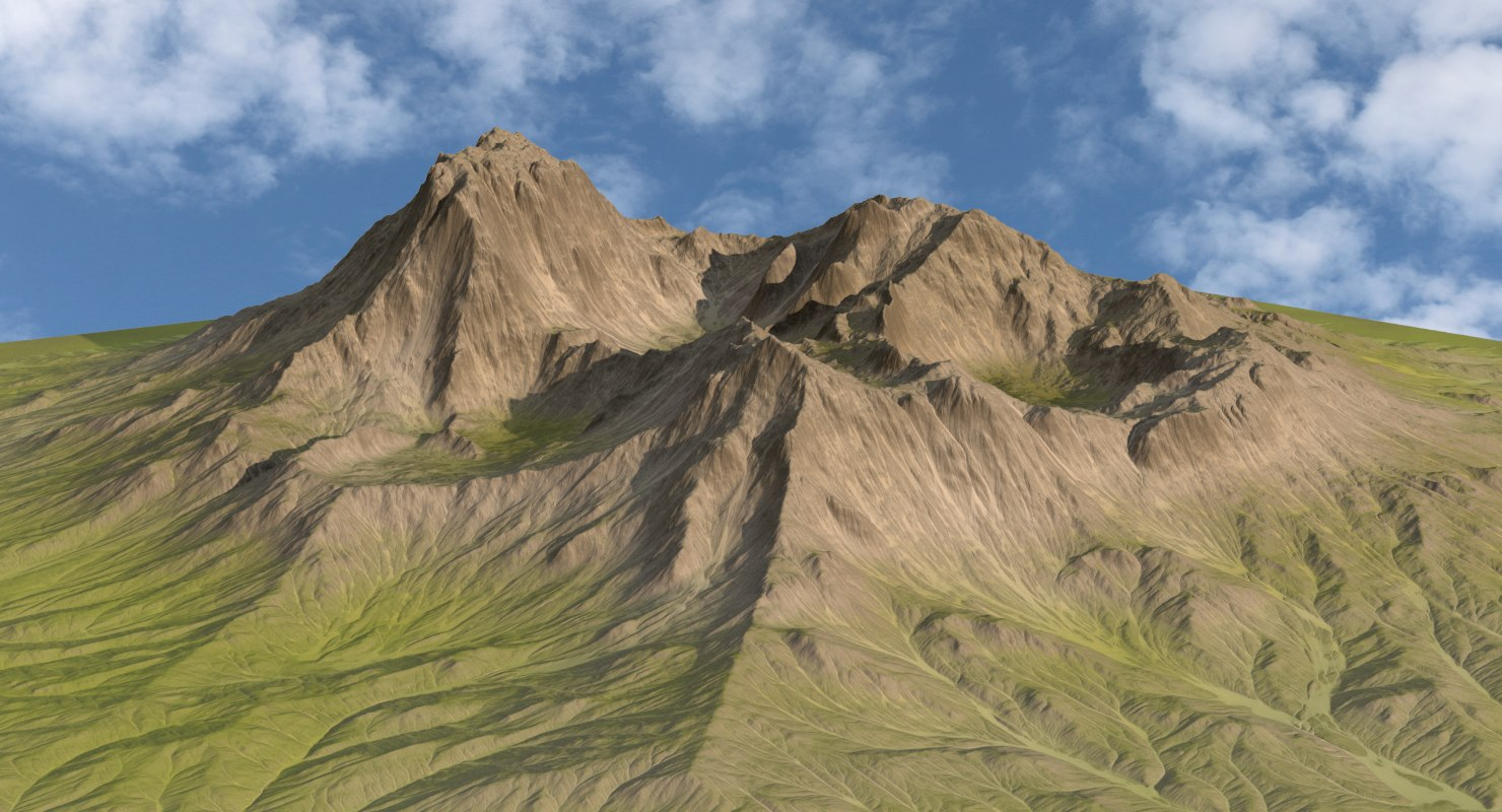 green mountain range landscape 3d max