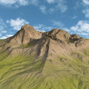 green mountain range landscape 3d max
