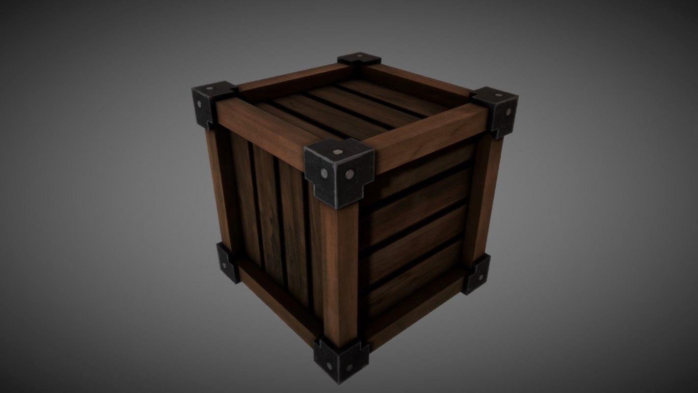 obj wooden crate