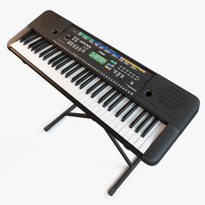 synthesizer yamaha psr-e253 3d obj