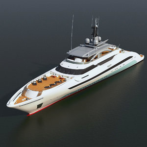 luxary yacht galactica super 3d max