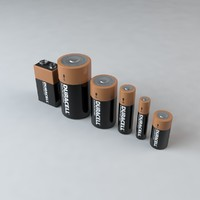 3d duracell batteries d c model