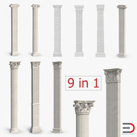 pilasters 2 column 3ds