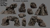 3d model rock 1