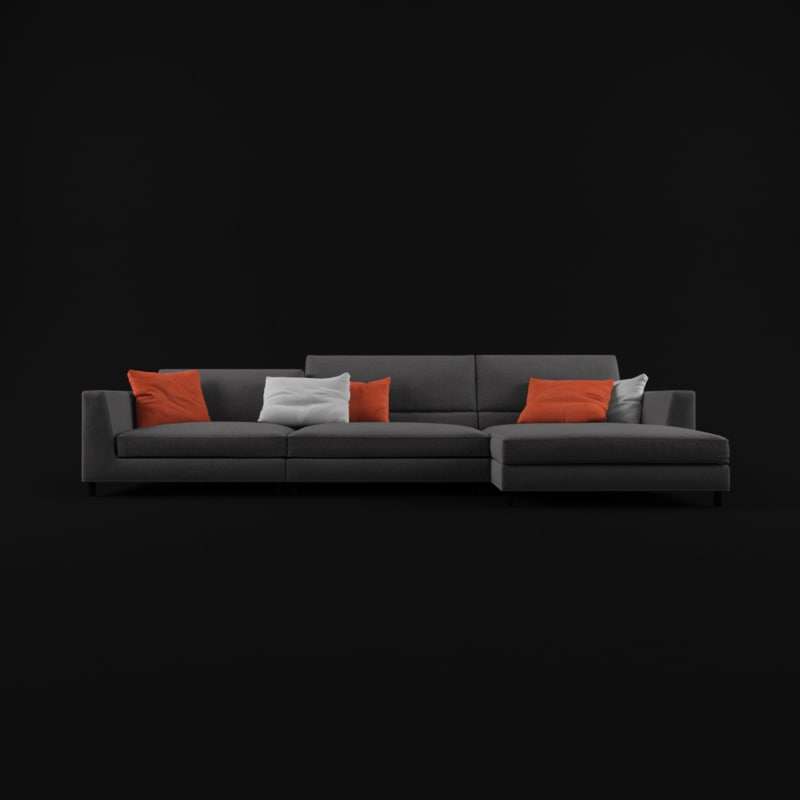max sofa dark gray