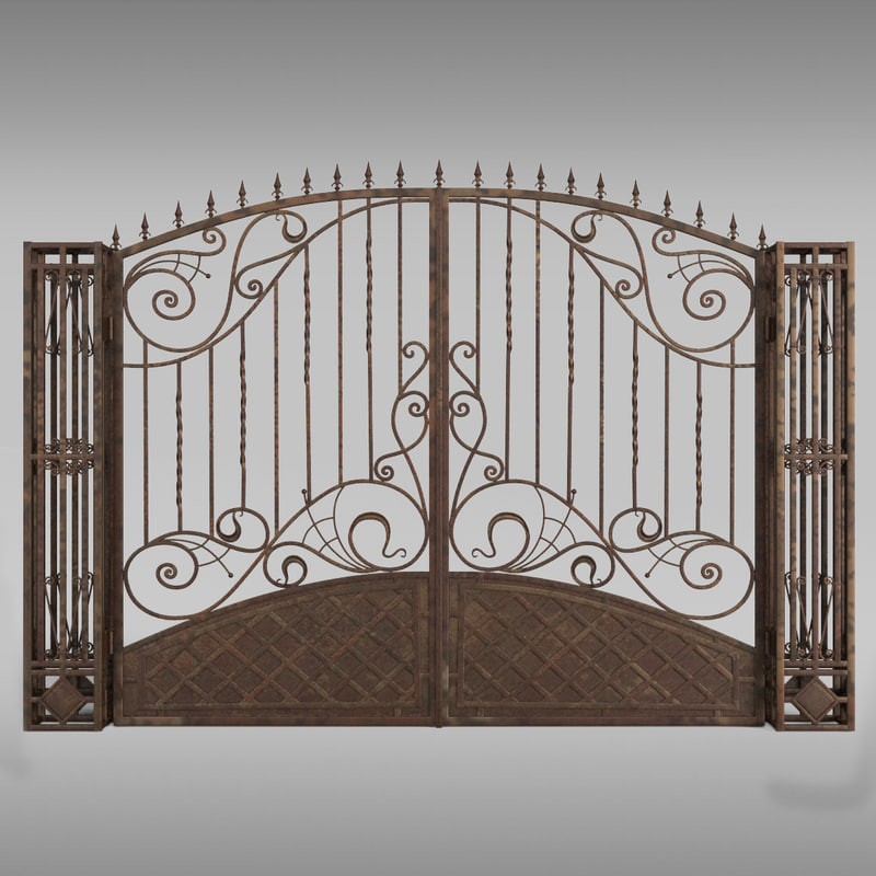 gate patterns 3d model