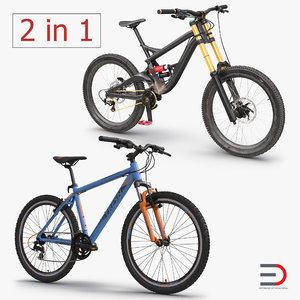 mountain bikes 3d model