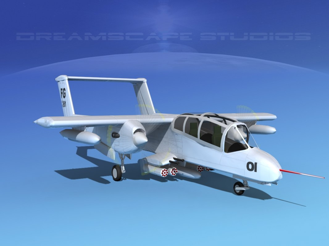 propellers usaf rockwell ov-10 bronco 3d max