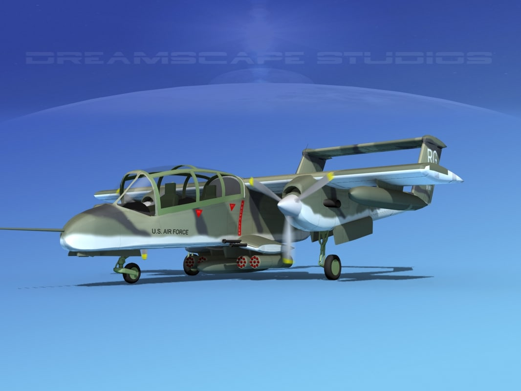 3d model of propellers usaf rockwell ov-10 bronco