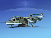 3d model of propellers usaf rockwell ov-10 bronco