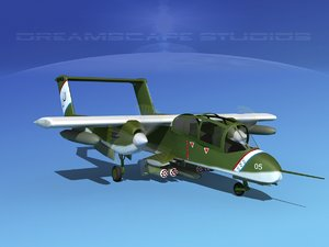 propellers rockwell ov-10 bronco 3d 3ds