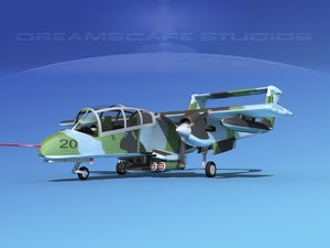 propellers rockwell ov-10 bronco 3d model
