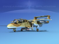 propellers marines rockwell ov-10 bronco 3d model