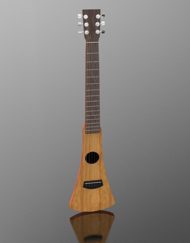 3d martin guitar