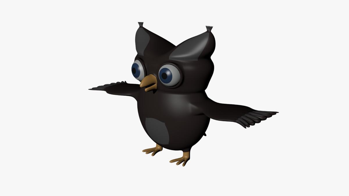 cartoon owl 3d 3ds