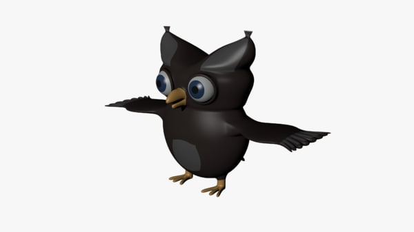 cartoon owl 3d 3ds