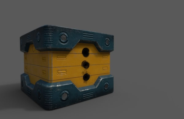free sci fi power supply 3d model