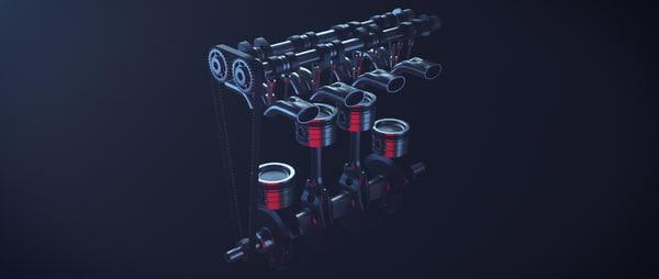 motor engine 3d 3ds