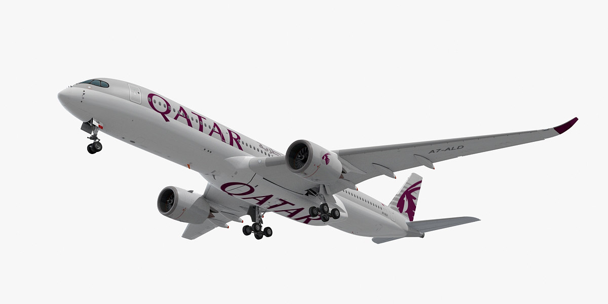 airbus a350-900 qatar airways 3ds