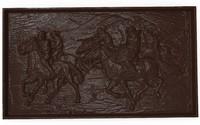 3d model bas relief asian horsemen
