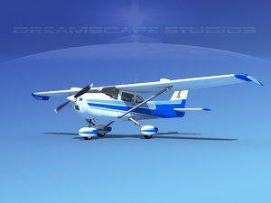 3d model cessna 172 stol skyhawk