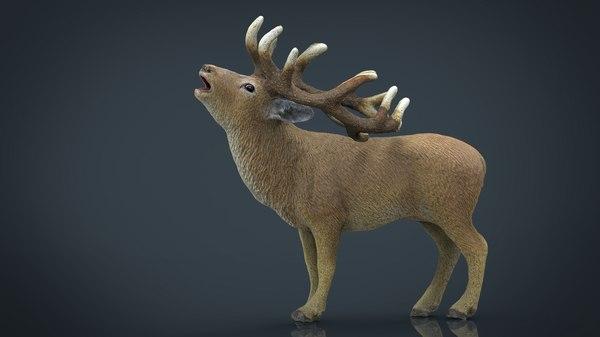 3d deer