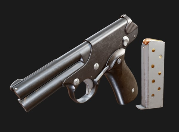 pistol unity 3d 3ds