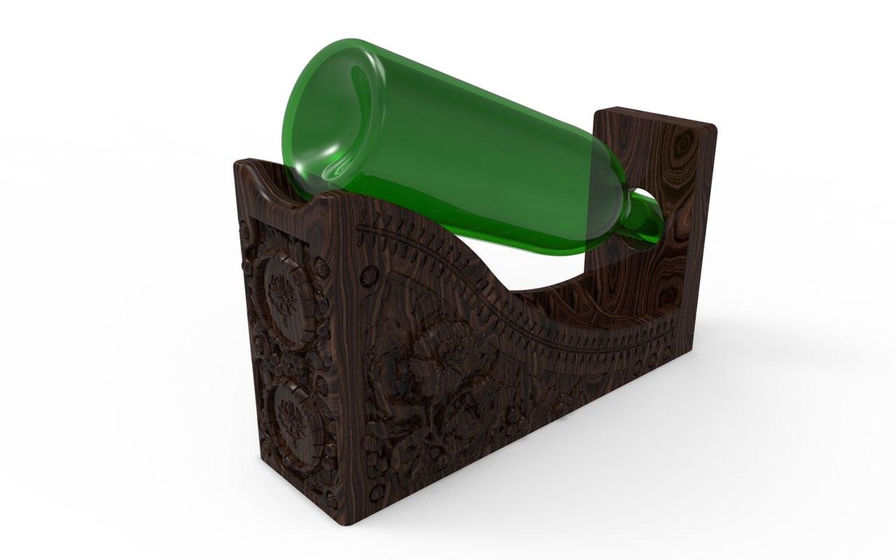 wine bottle holder design 3d 3dm